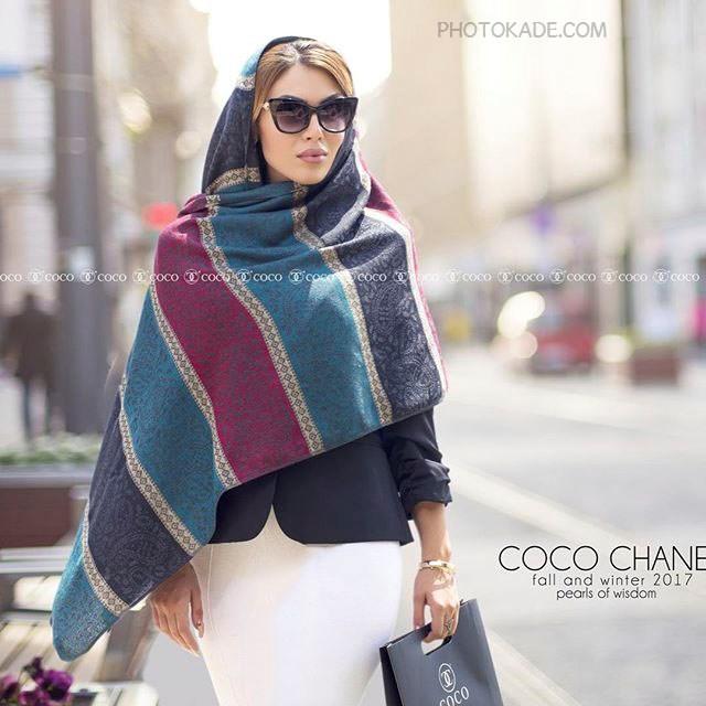 مدل شال و روسری پاییزه و زمستانی 96