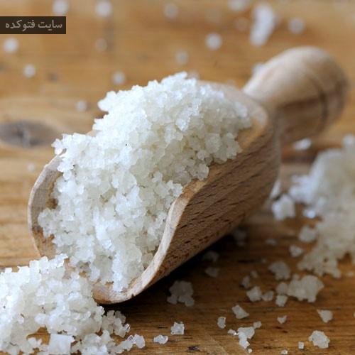 درمان خانگی سفیدی زبان با نمک دریا