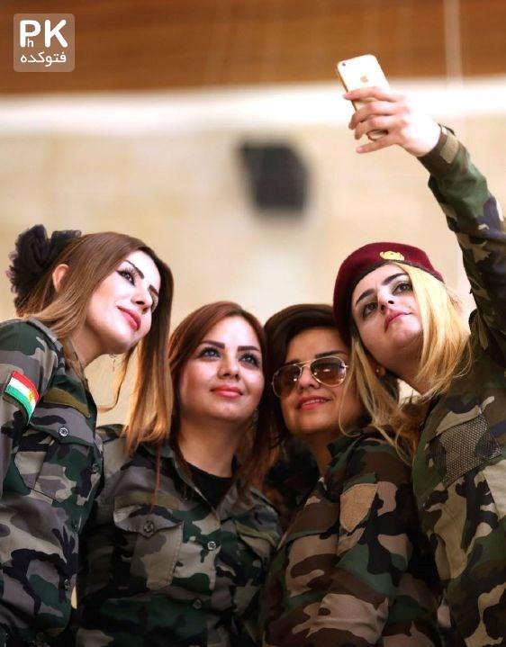 سلفی پیشمرگه های زن کرد خوشگل,عکس پیشمرگه های زن کرد,عکس سلفی دختران خوشگل کرد,عکس دختر خوشگل کردی,عکس های پیش مرگه های زن کرد در عراق,پیش مرگه های کرد داعش