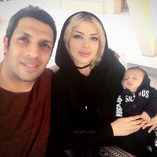 عکس های سپهر حیدری در کنار همسر و پسرش دیاکو
