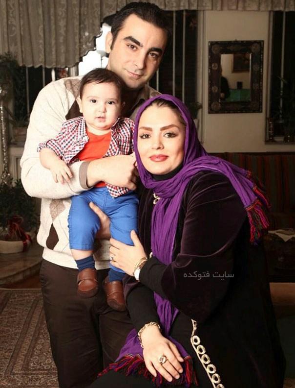 عکس سپیده خداوردی و همسرش امین نظری + پسرش سامیار