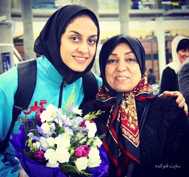 عکس سپیده توکلی و مادرش