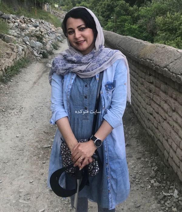 یلدا قشقایی در نقش اکرم سریال بر سردوراهی