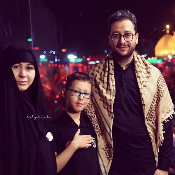 عکس دکتر بشیر حسینی و همسرش + فرزندان