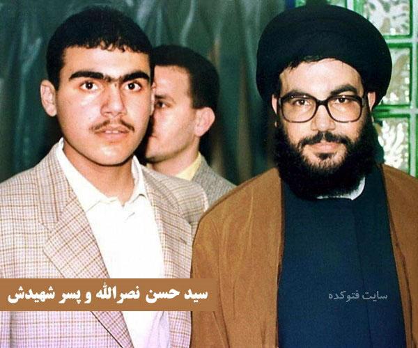 عکس سید حسن نصرالله و پسرش
