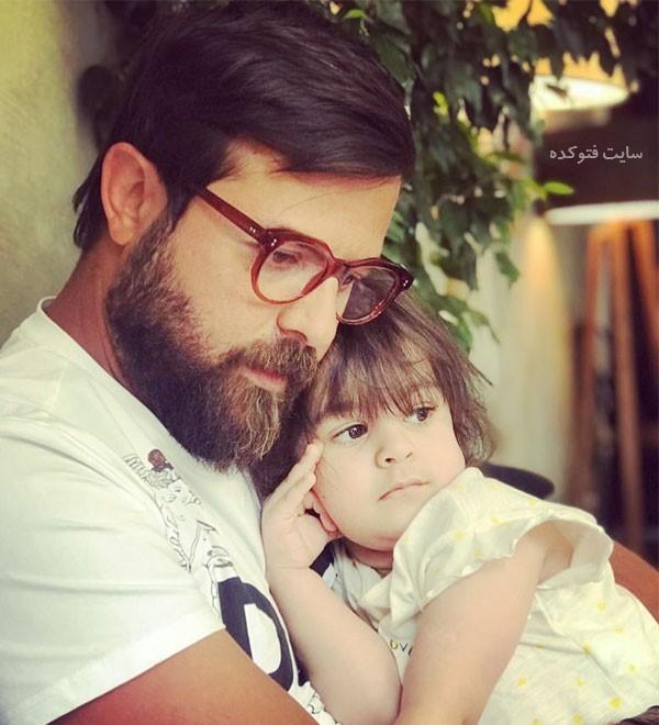 عکس جدید هومن سیدی و دخترش نیل