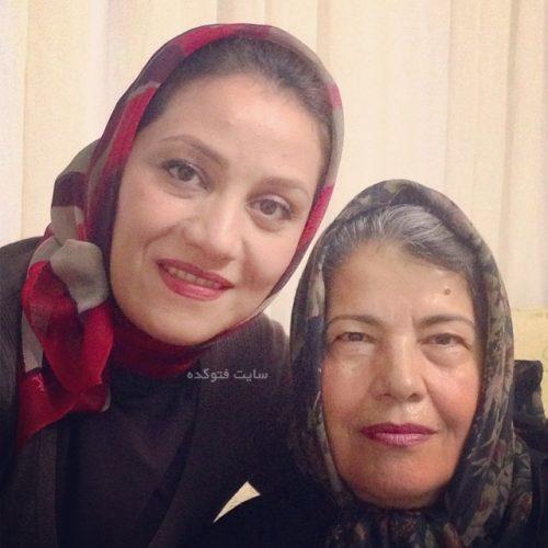 عکس شبنم مقدمی و مادرش
