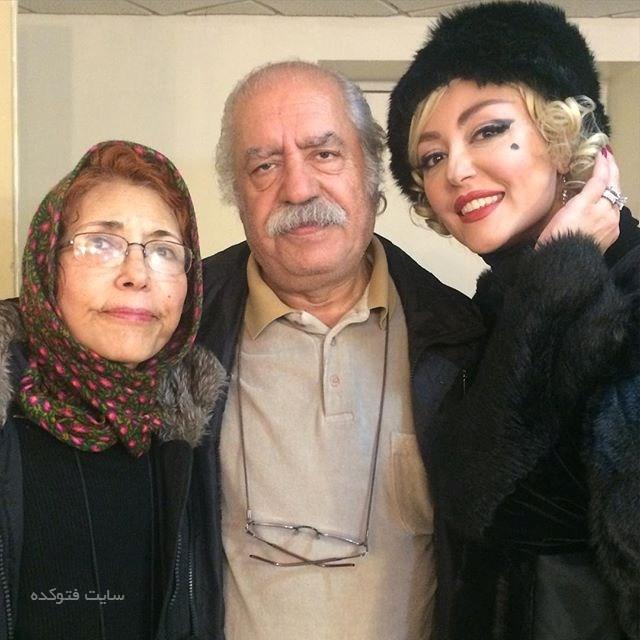 عکس شقایق فراهانی در کنار پدرش بهزاد فراهانی و مادرش فهیمه رحیم نیا