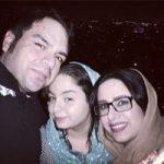 شهرام قائدی و همسر + دخترش سارینا با بیوگرافی