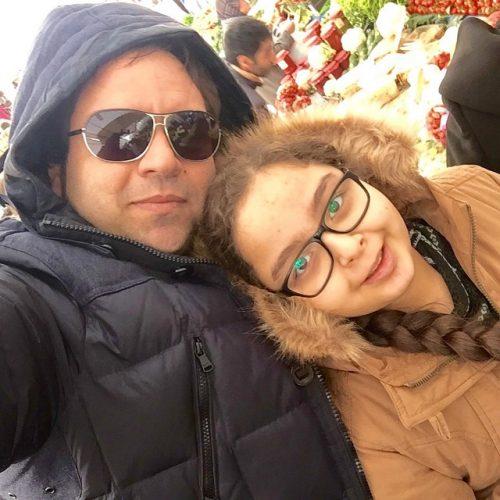 شهرام قائدی و دخترش سارینا