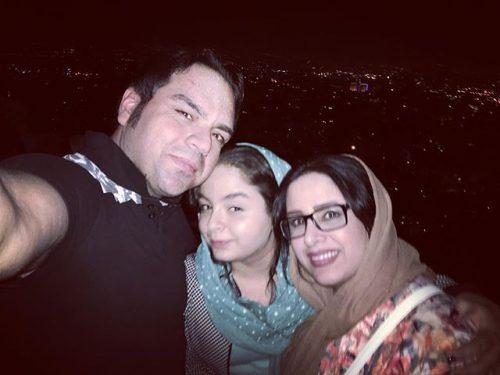 عکس همسر و دختر شهرام قائدی