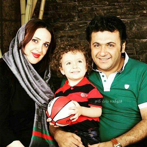 عکس شهرام عبدلی و همسرش + پسرش با بیوگرافی