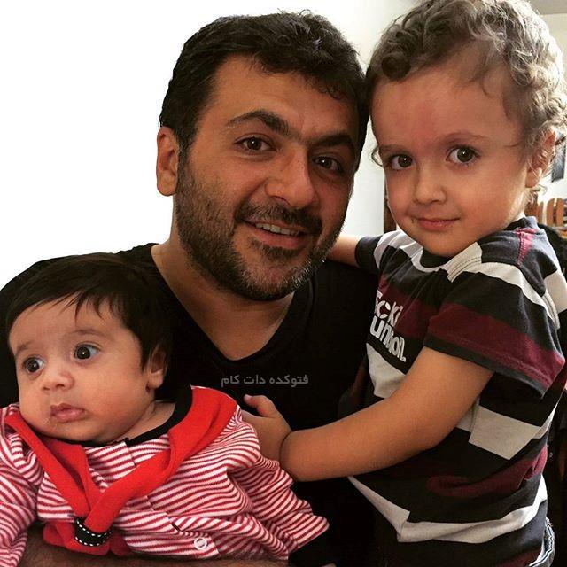 عکس آرتین و آدرین فرزندان شهرام عبدلی