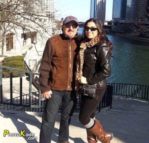 شهرام آذر و همسرش