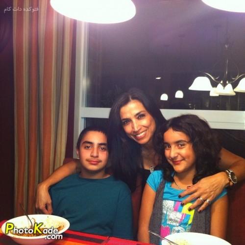 عکس همسر شهرام آذر و پسر و دخترش