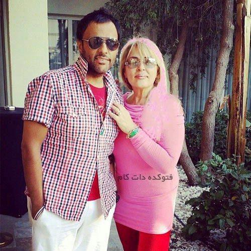 عکس شهرام کاشانی و مادرش
