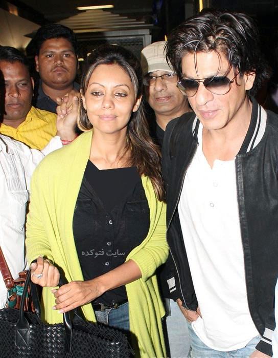 عکس  و بیوگرافی شاهرخ خان و همسرش گوری خان