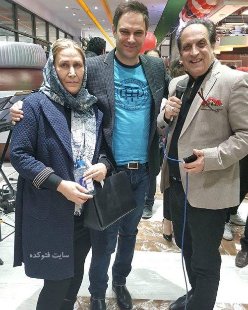 عکس شهروز ابراهیمی در کنار مادرش و بهمن هاشمی + بیوگرافی کامل