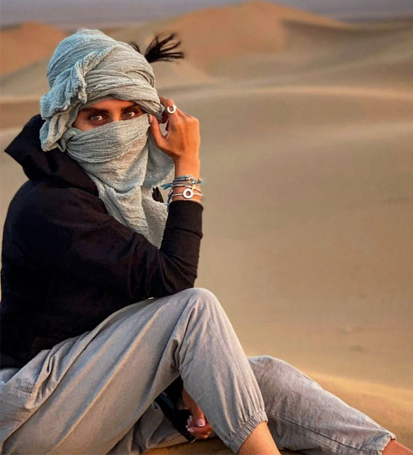 عکس خفن از Elnaz Shakerdoost در بیابان