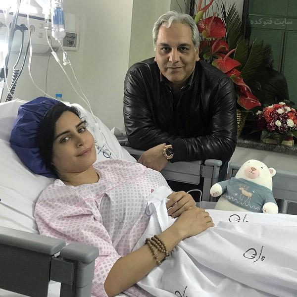 عکس الناز شاکردوست و مهران مدیری در بیمارستان