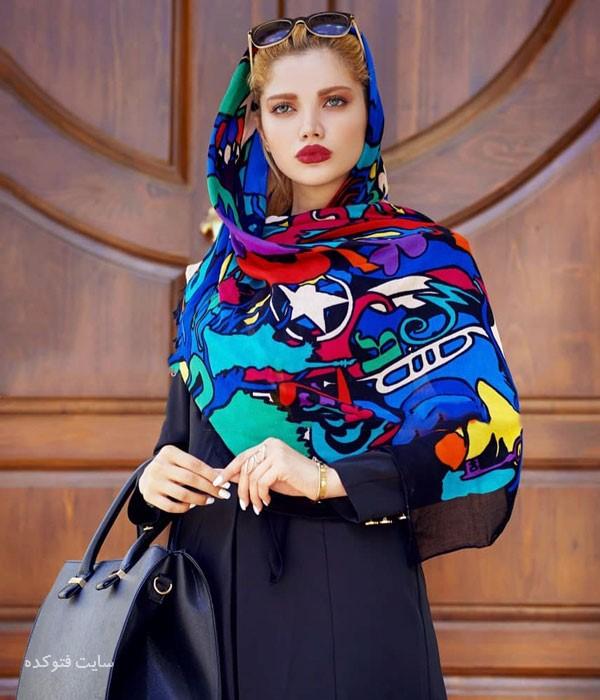 مدل های رنگی از شال و روسری چارخونه
