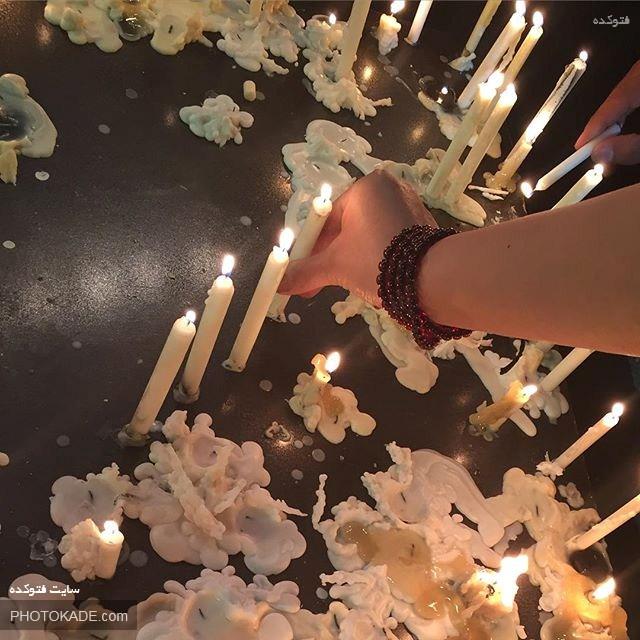 عکس شمع های شام غریبان,عکس مراسم روشن کردن شمع در شام غریبان شهدای کربلا,عکس های شمع شام غریبان امام حسین در محرم,عکس شام غریبان امام حسین,شام غریبان چیست