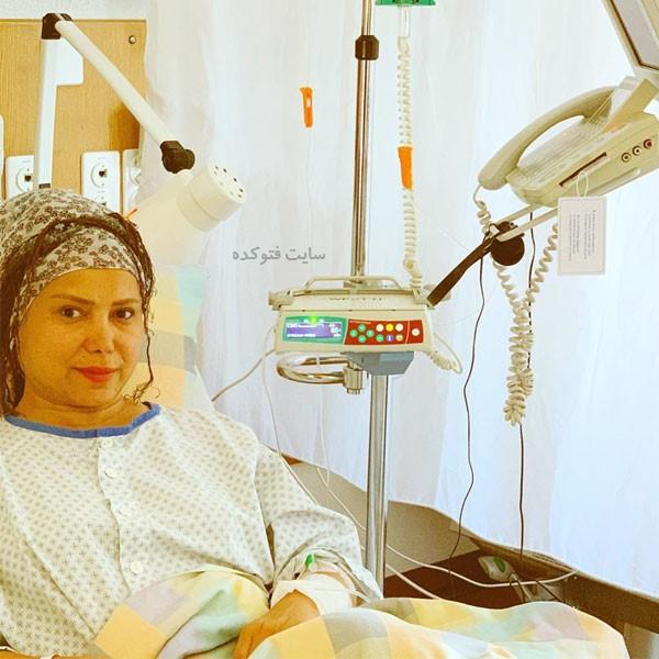 عکس شراره درشتی در بیمارستان سوئیس بخاطر سرطان سینه