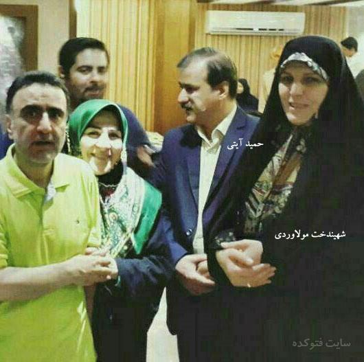 Image result for روحانی و شهین دخت مولاوردی