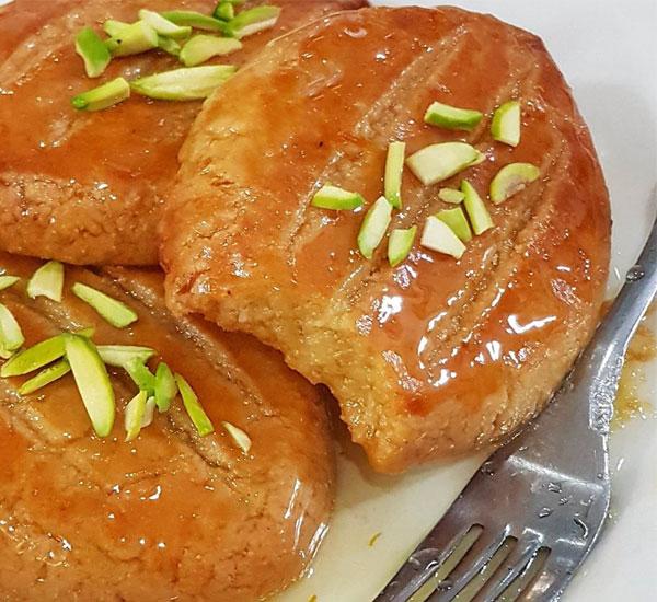 طرز تهیه شیرینی شکر پاره ترکیه خانگی