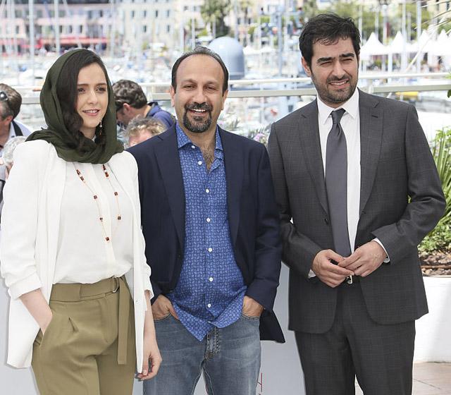 عکس شهاب حسینی + اضغر فرهادی و ترانه علیدوستی