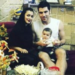 شهرام محمودی و همسرش + پسرش آرسام