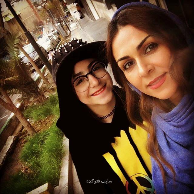 عکس های شیوا ابراهیمی و دخترش نفس