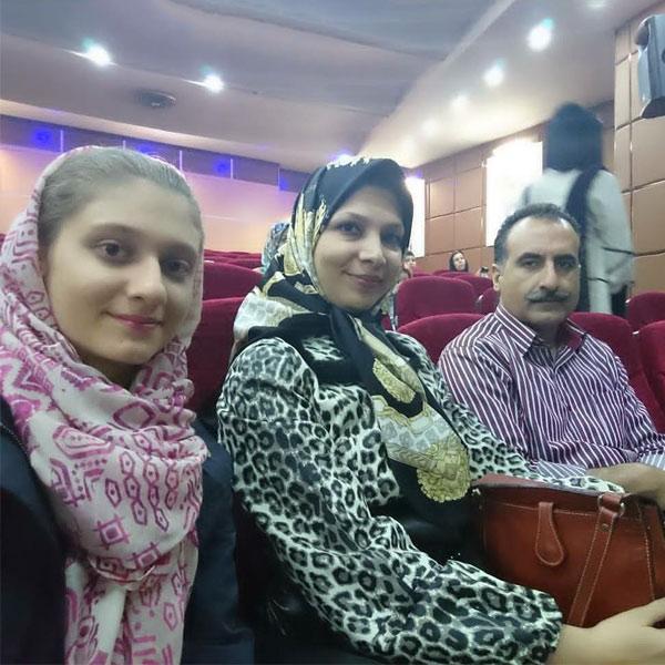 همسر شیده معاونی و دخترش نازنین