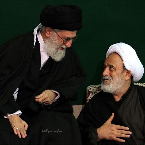 عکس رهبری و انصاریان در بیت رهبری