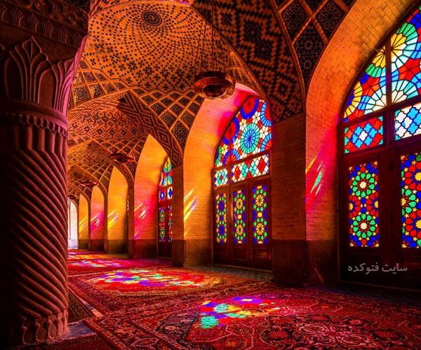 جاهای دیدنی شیراز : مسجد نصیرالملک + عکس و آدرس کامل