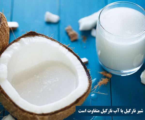 طرز تهیه شیر نارگیل در خانه