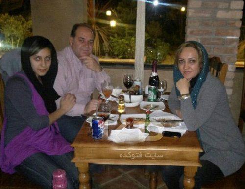 شیرین بینا و همسر آقای بینا و دخترش پریناز