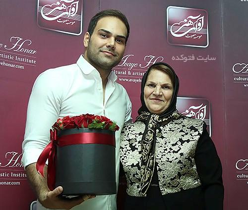 سیامک عباسی و مادرش