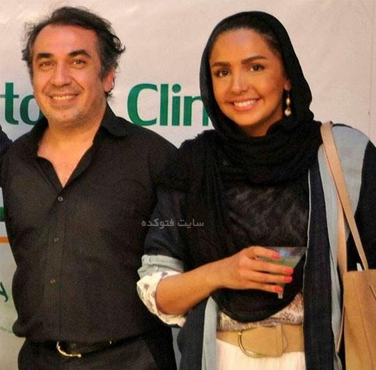 عکس سیامک انصاری و همسرش طناز هادیان با بیوگرافی