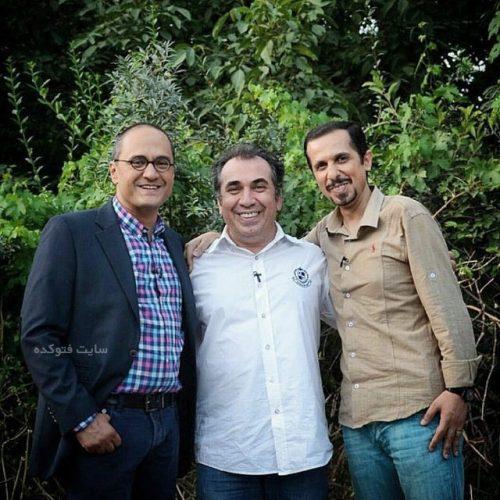 عکس سیامک انصاری در کنار جواد رضویان و رامبد جوان