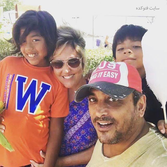 عکس خانوادگی سیاوش شمس مشهور به سیاوش صحنه