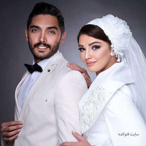 عکس های عروسی سیما خضرآبادی و همسرش + بیوگرافی