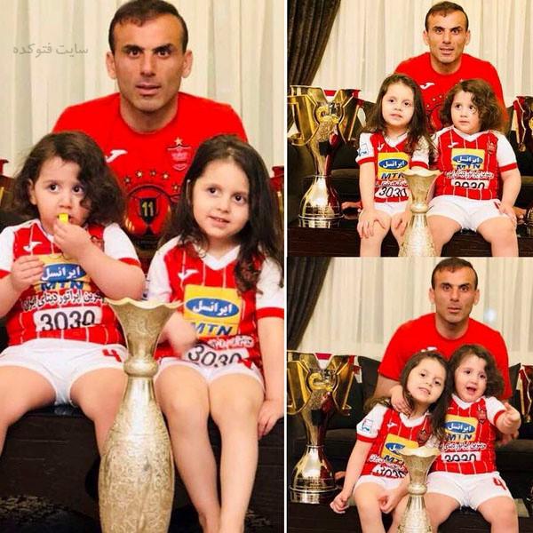 عکس های سید جلال حسینی و دخترانش نورا و میلا + بیوگرافی