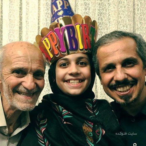 عکس جواد رضویان در کنار دخترش یامین و پدرش