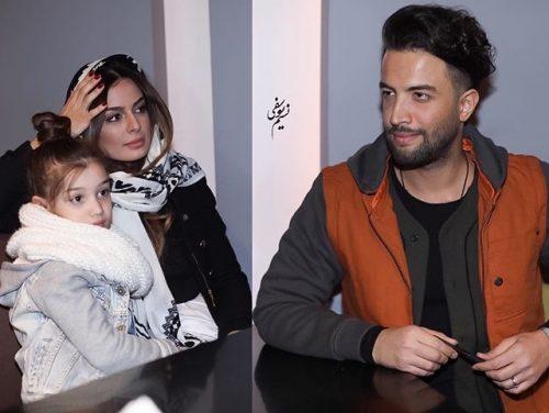 عکس جدید بنیامین بهادری و همسرش شایلی محمودی و دخترش زمستان 95