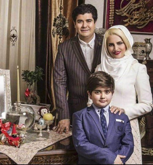 عکس سالار عقیلی و همسرش حریر شریعت زاده و پسرش ماهور + بیوگرافی