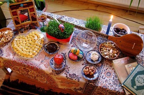 مدل های تزئین سفره و هفت سین عید نوروز93