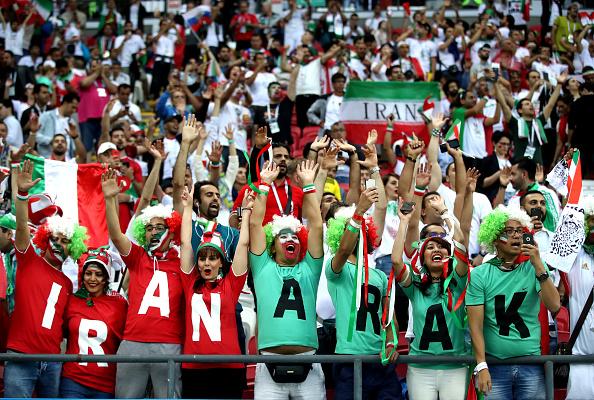تماشاگران زن بازی ایران و اسپانیا
