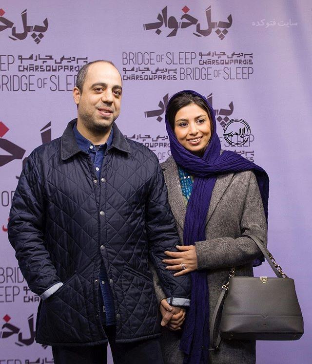 عکس فتانه ملک محمدی و همسرشزمستان 96