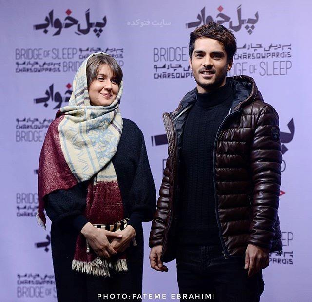 عکس ساعد سهیلی و همسرش گلوریا زمستان 96